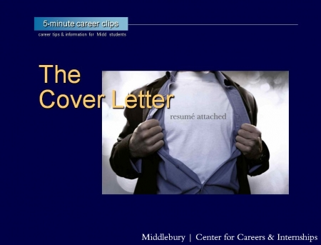 Resume & Cover Letter | Middlebury