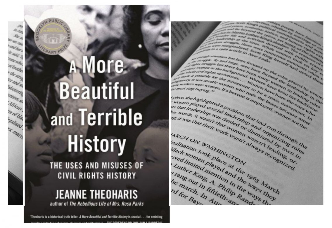 Book Cover image: A More Beautiful and Terrible History by Jeanne Theoharis