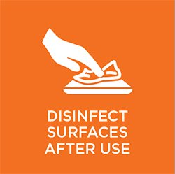 Sign: Disinfect After Use