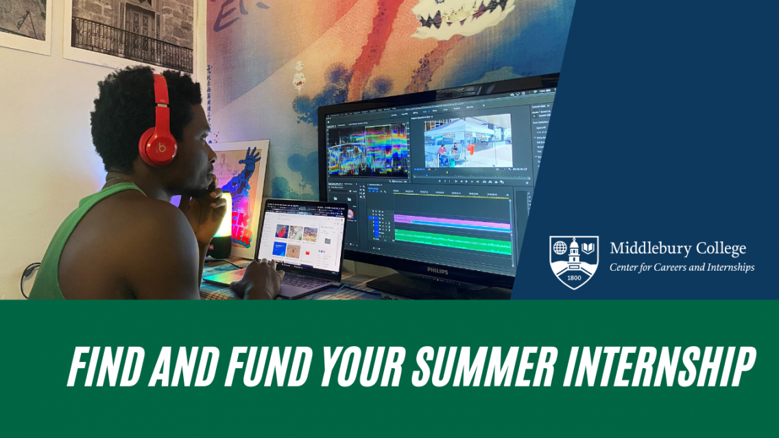 Find and Fund Your Summer Internship Graphic