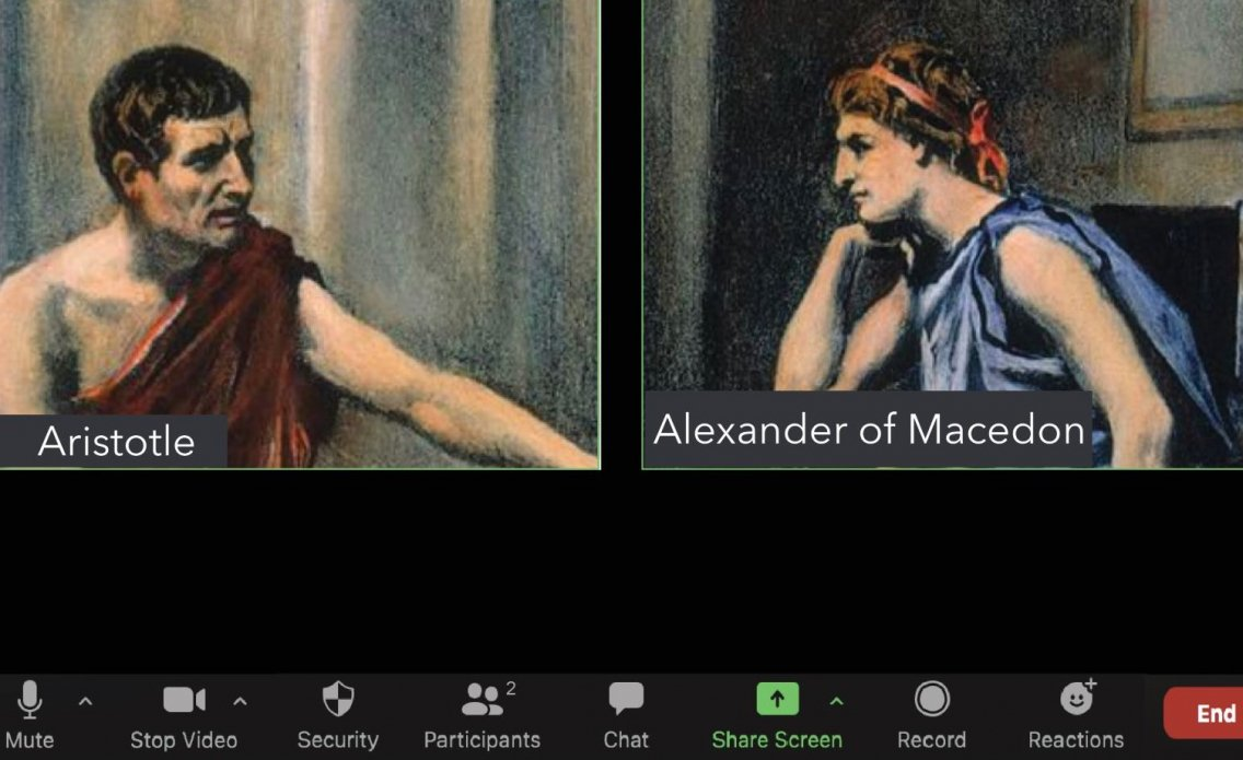 Aristotle and Alexander - image