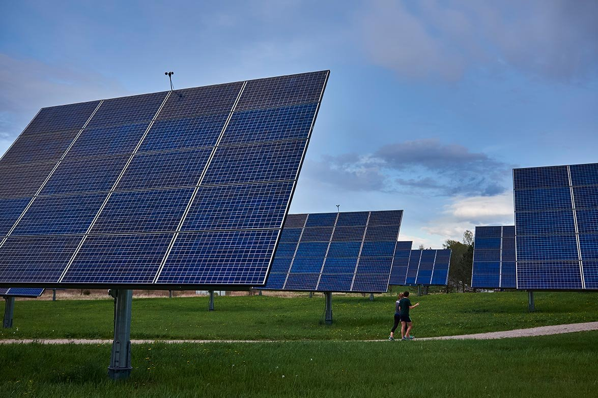 Photo of solar panels at Middlebury College