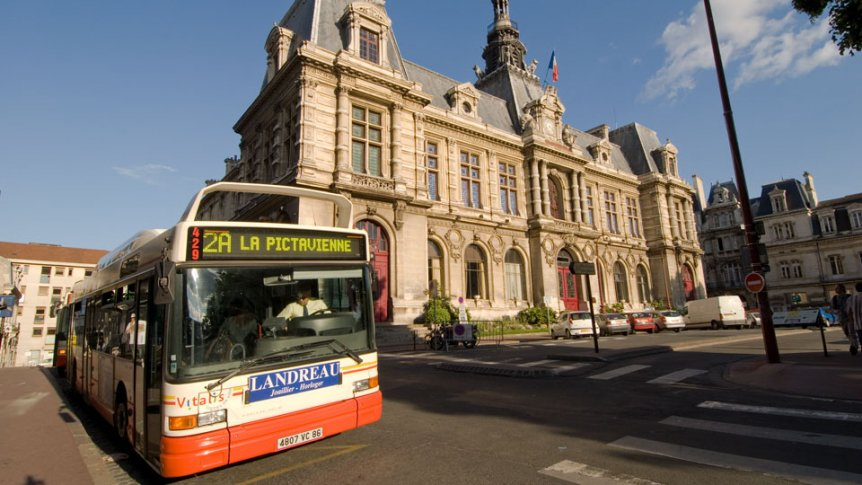 A public bus in Paris.