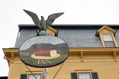 The Eagle perched atop the Bread Loaf Sign