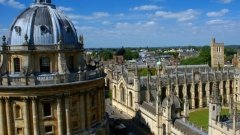 Birds eye view of the area from University of Saint Mary, Oxford England