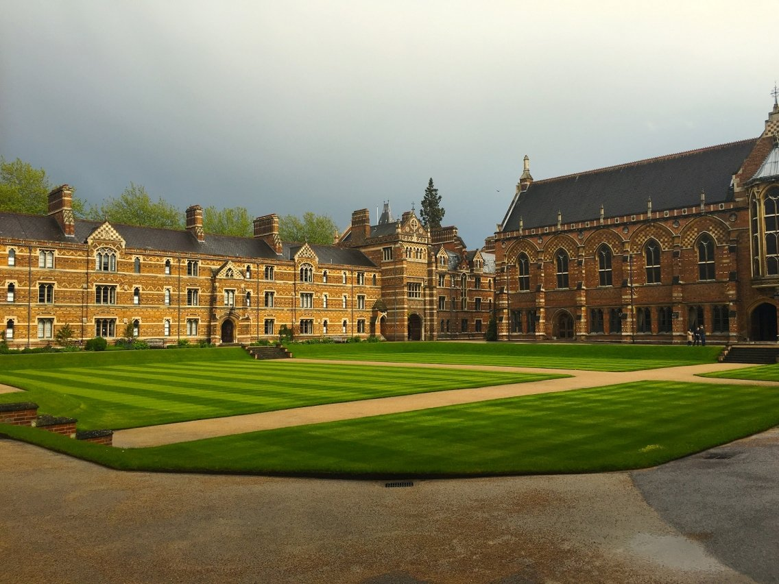 The courtyard of Keble College