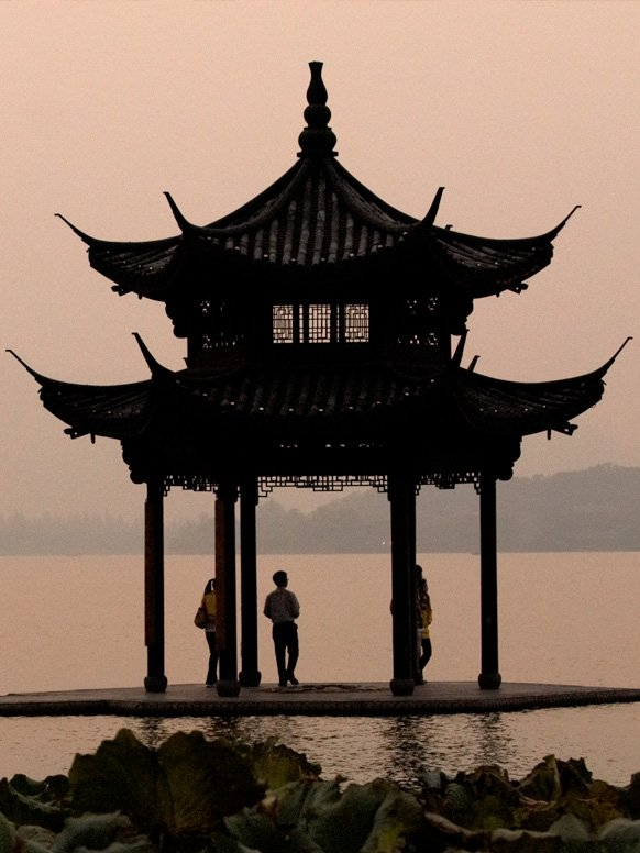 Pagoda at twilight in China