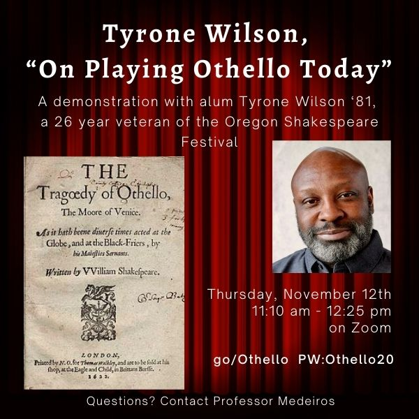 Tyrone Wilson event poster